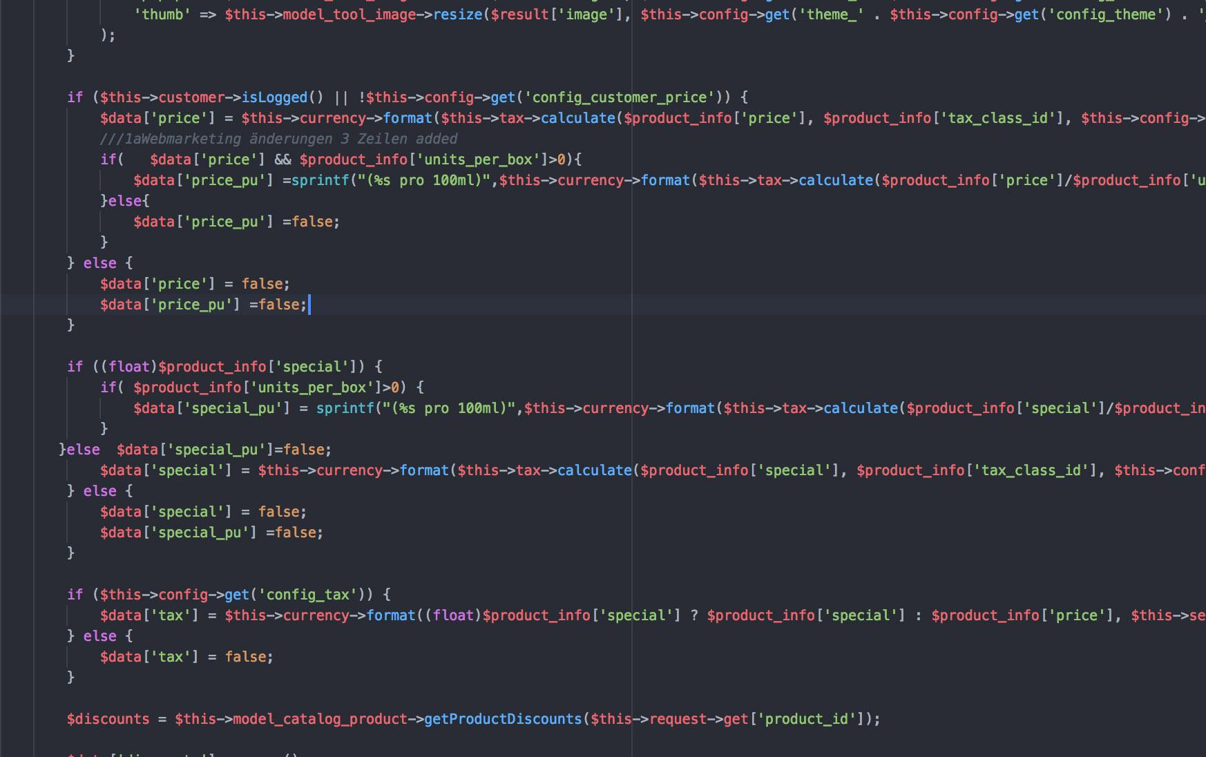 Webseite erstellen lassen Letzte Anpassungen direkt im Code