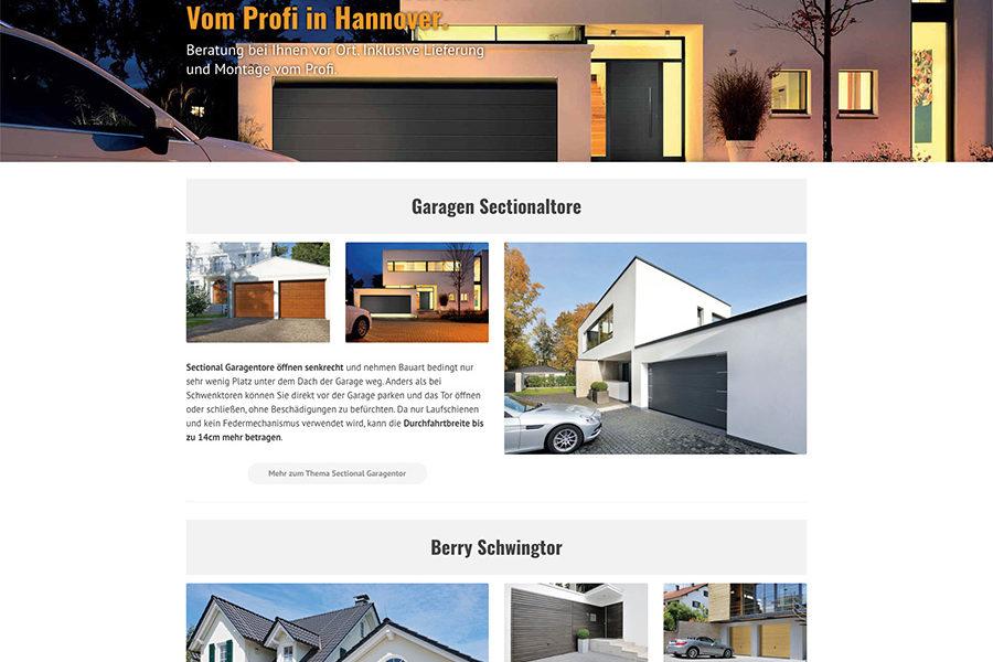 Bild von der Hörmann-Hannover.de Webseite