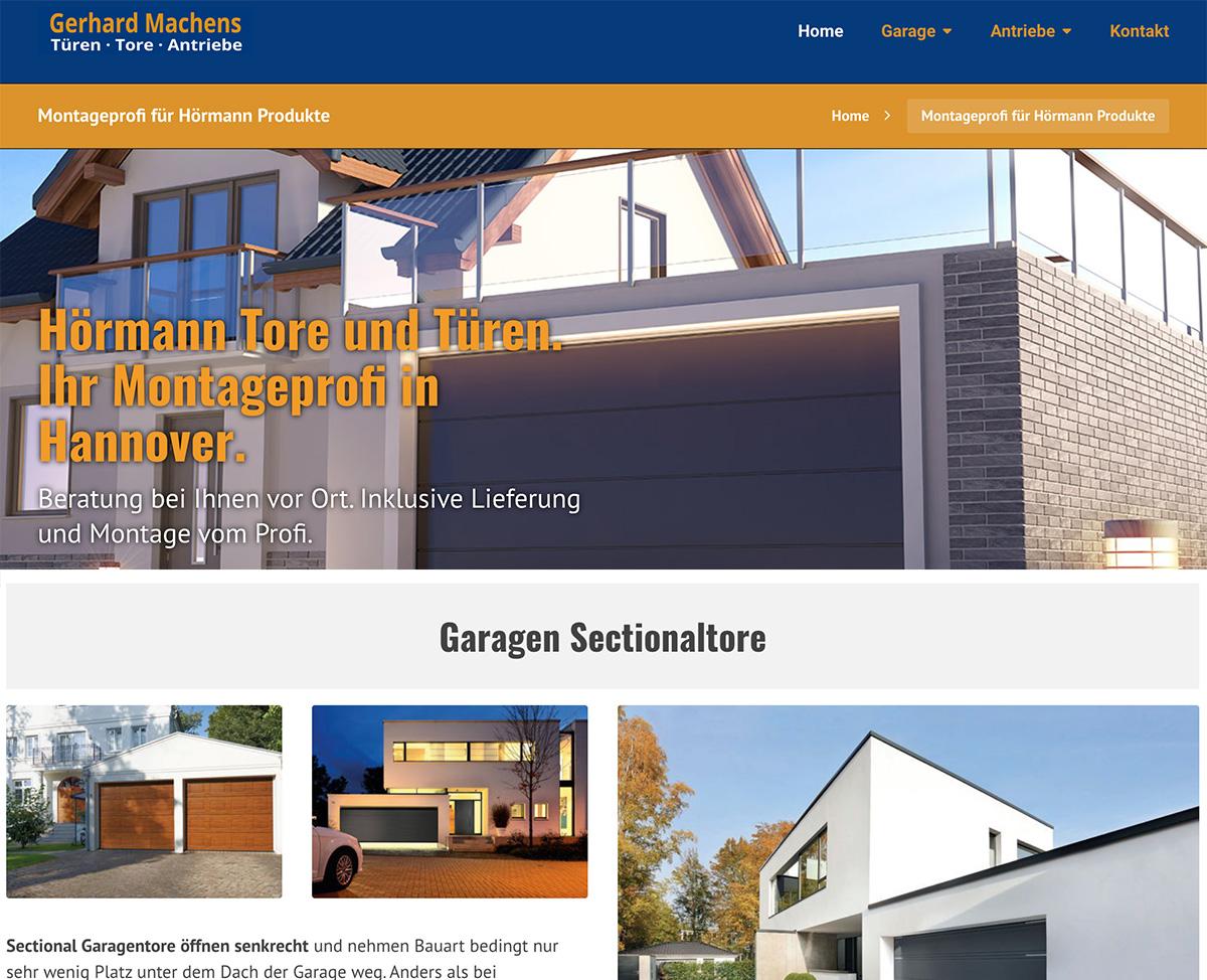 Hörmann Hannover Gerhard Machens Montagepartner Webseite