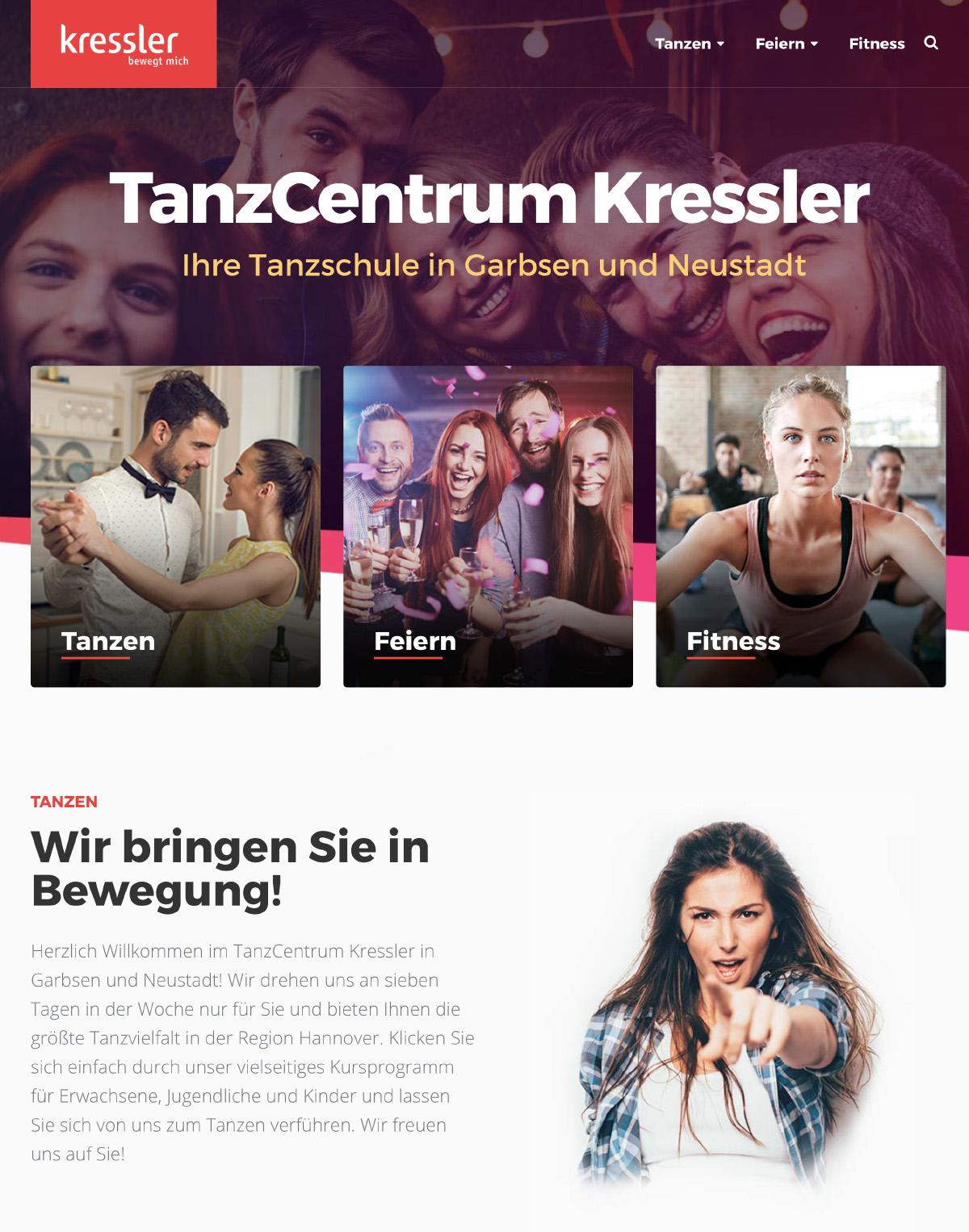 TanzCentrum Kressler Webseite
