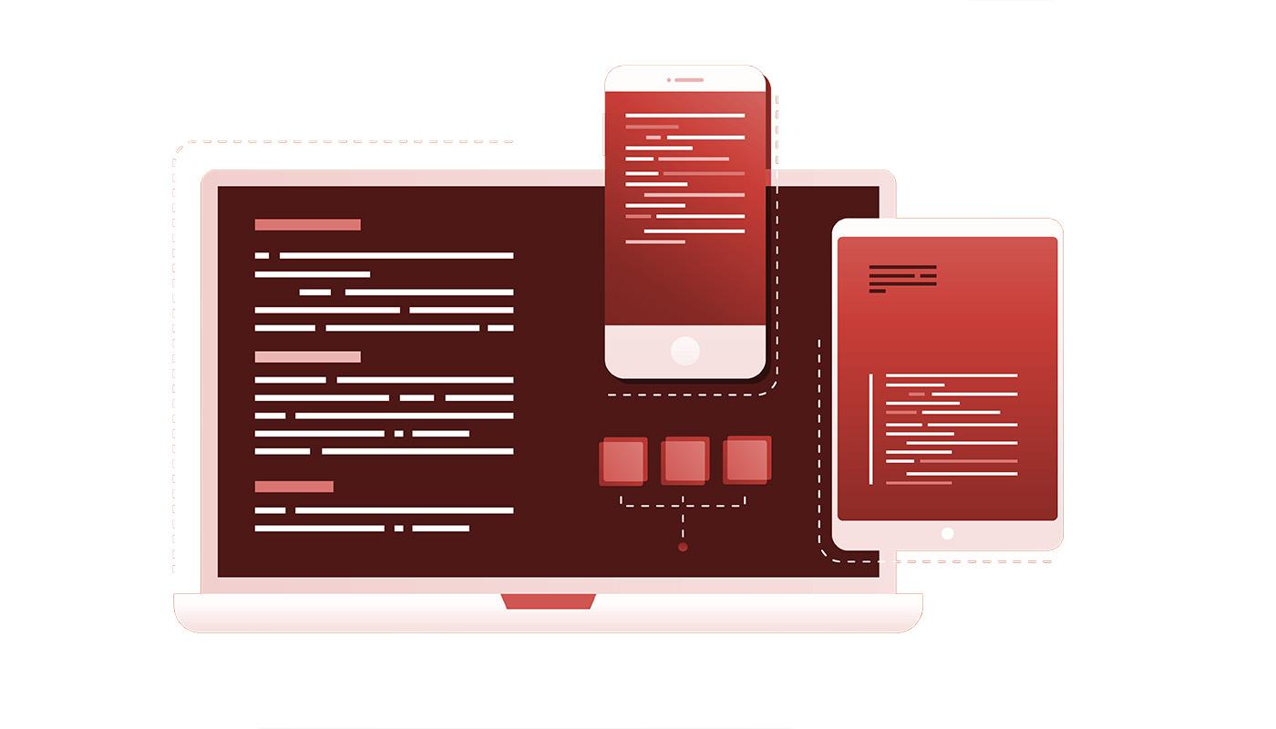 Programmierender Webdesign Computer
