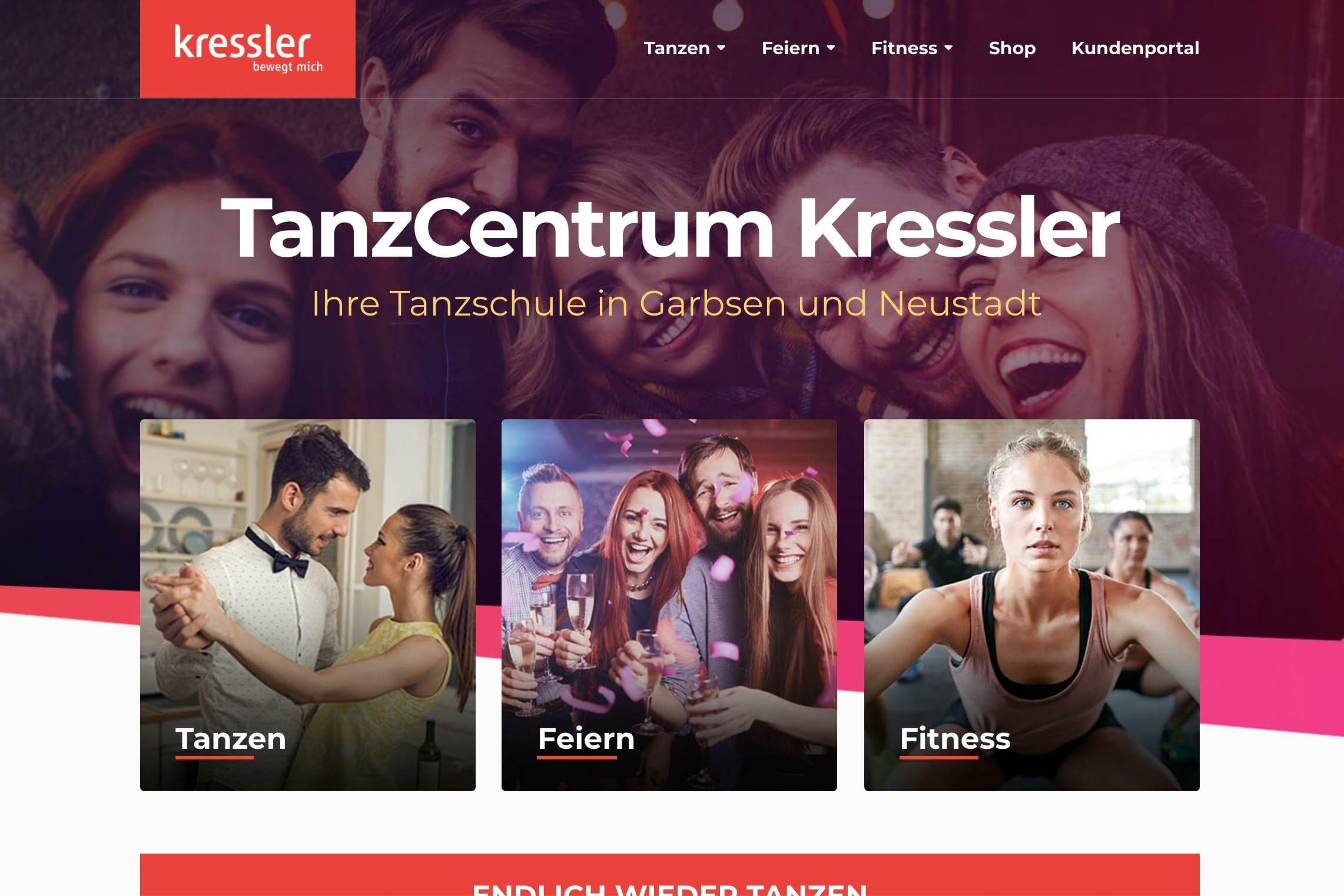 Webdesign Für Garbsen Bei Hannover Tanzschule Kressler